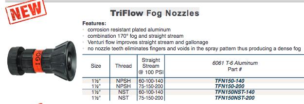 TriFlow  Fog Nozzles